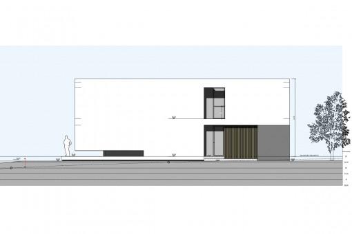 Neubau Villenprojekt im minimalistischen Stil in Vallgornera