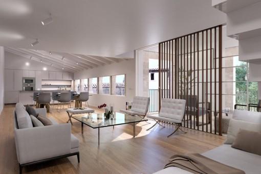 Wunderschönes neues Penthouse Apartment mit großer Terrasse in einem historischen Gebäude im Zentrum der Altstadt