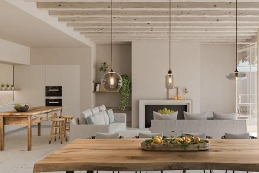 Spektakuläres Neubau-Stadthaus mit viel Charme im Herzen von Santanyí