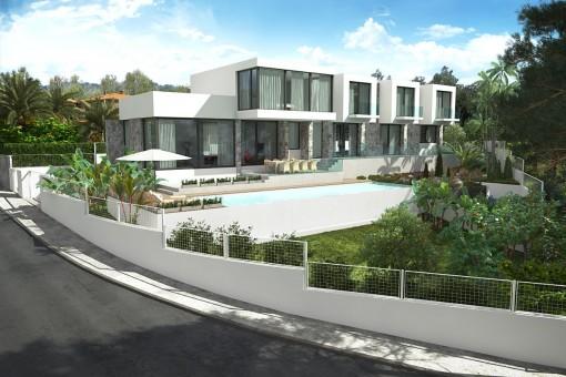 Spektakuläre Neubauvilla mit Pool in Cala Vinyas