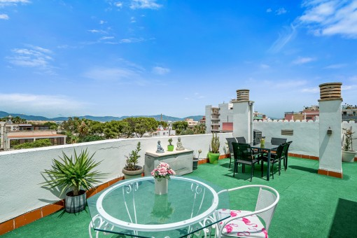 Penthouse mit schöner Aussicht in Ciudad Jardín, Palma
