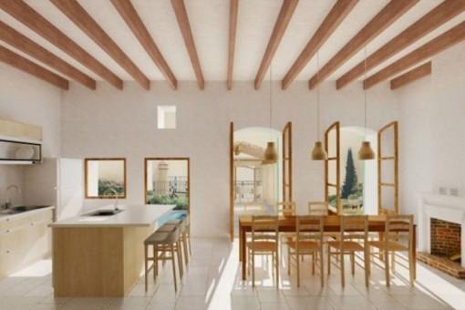 Stadthaus mit sonniger Dachterrasse und herrlichem Ausblick in Andratx