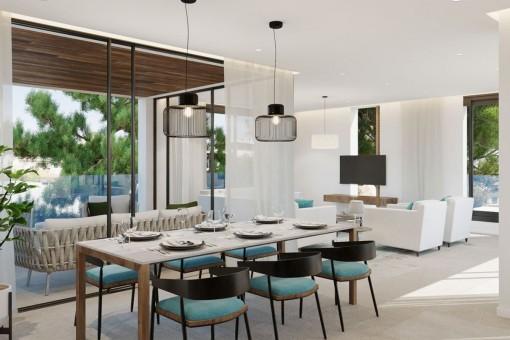Neubau Wohnung im ersten Stockwerk mit Patio in einer schönen Anlage in Son Armadams