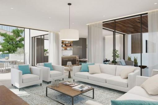 Luxuriöses Neubau Apartment im 2. Stock mit 2 Schlafzimmern in einer schönen Anlage in Son Armadams, Palma