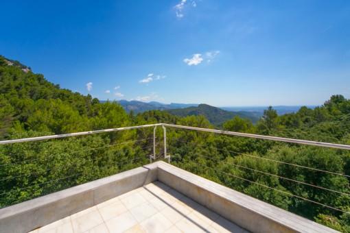 Herrliche Terrasse mit Bergblick