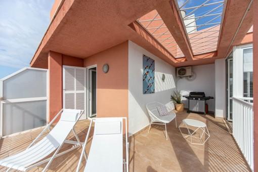 Ruhig gelegenes Penthouse mit großer Terrasse in Palma