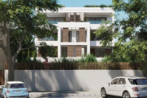 Fantastisches Apartment mit Terrasse in der ersten Etage einer Neubauanlage in Son Armadams