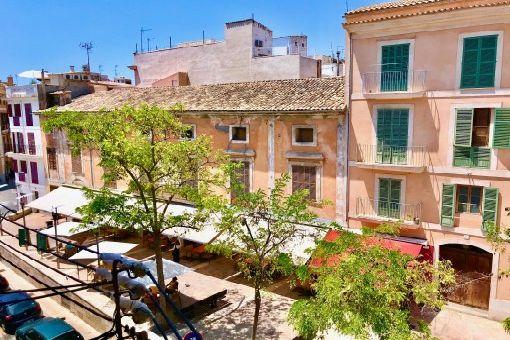 Möbliertes Altstadt-Apartment mit Parkettboden und schöner Aussicht in Palma