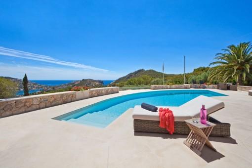 Einzigartige Luxusvilla in Puerto de Andratx mit sensationellem Hafenblick