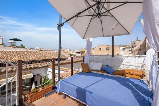 Chill out Area auf der Dachterrasse
