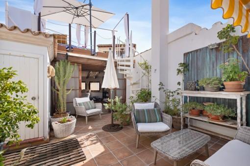 Eindrucksvolles Penthouse mit 4 Schlafzimmern und Dachterrasse im Herzen von Palmas Altstadt