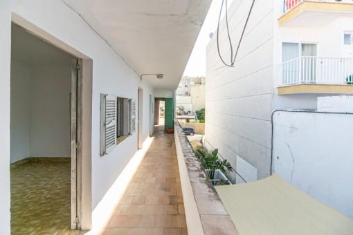 Balkon der Wohnung