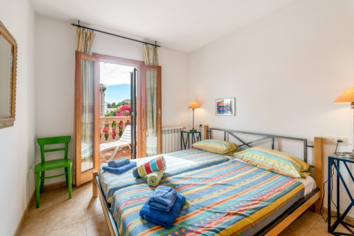 Schlafzimmer mit Sonnenterasse