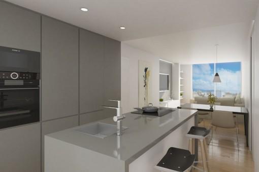 Hochwertige Neubau-Wohnung nahe Paseo Maritimo in Palma