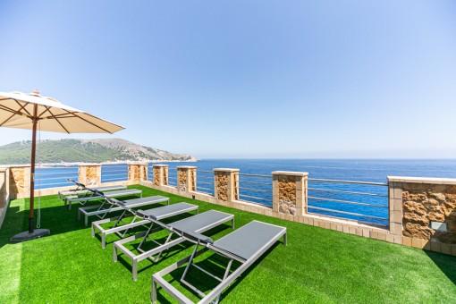 Phantastische Immobilie mit einmaligem Meerblick in Cala Ratjada - Investitionsobjekt mit Ferienvermietlizenz!