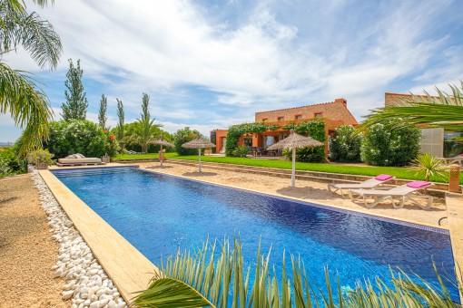 Exklusive Finca mit luxuriöser Ausstattung, Panoramablick und Privatsphäre in der Nähe von Manacor