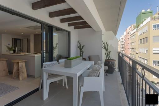 Spektakuläre Wohnung eines neuen Gebäudes mit Terrasse in Palma