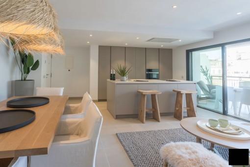 Spektakuläre Wohnung  im 2 Stockwerk eines Neubau Gebäudes mit Terrasse in Palma