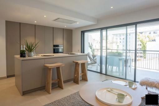 Spektakuläre Wohnung eines Neubaugebäudes mit Terrasse in Palma
