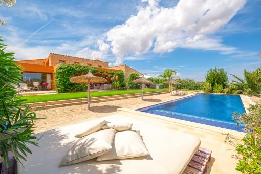 Beeindruckende Luxusfinca mit Weitblick in Vilafranca de Bonany