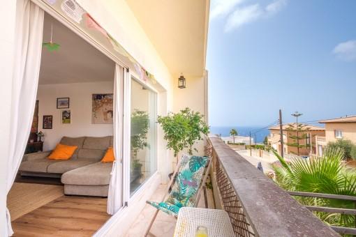 Wohnung mit wunderschöner Meerblick Dachterrasse und tollem Blick auf die Bucht von Palma in Badia Gran