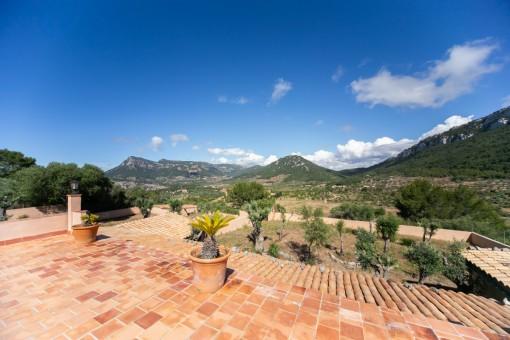 Terrasse mit wundervollem Panoramablick