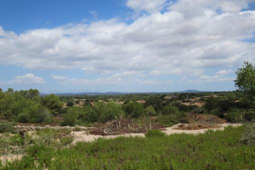 Wunderschönes Grundstück mit Projekt bei Santanyi