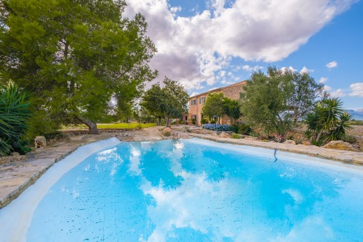 Großer, idyllischer Pool
