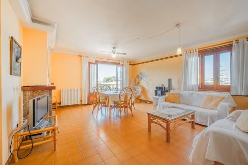 Gepflegte Wohnung mit Gaszentralheizung in Strandnähe in Can Picafort