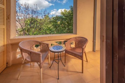 Kleiner Balkon dieser Suite