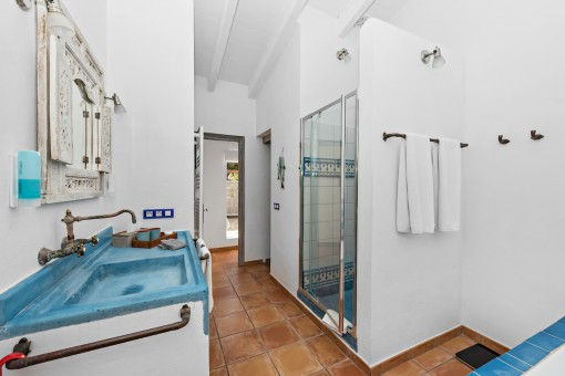 Badezimmer des Apartments