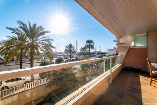Wohnung auf dem Paseo Marítimo in Palma mit großer Terrasse-
