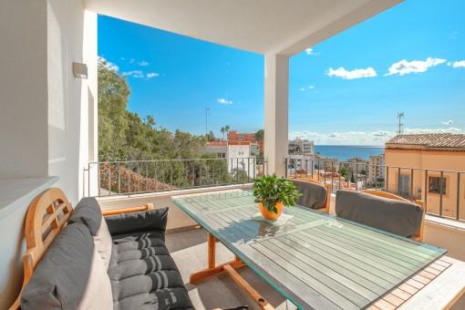 Balkon des Apartments