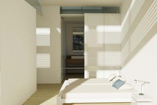 Lichtdurchflutete Schlafzimmer