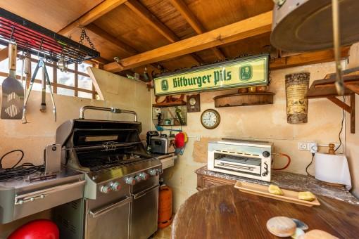 Außenküche der Finca