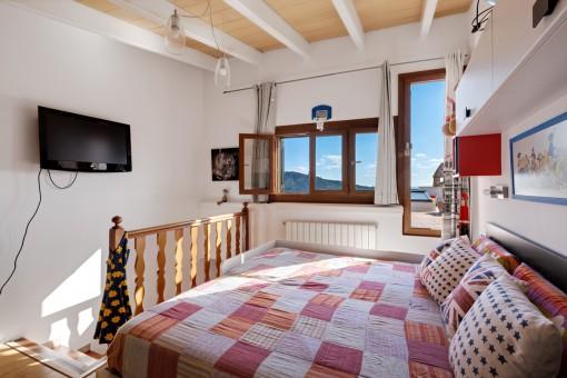 Schlafzimmer ebenfalls mit Terrasse