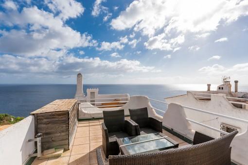 Dachterrasse mit Loungebereich