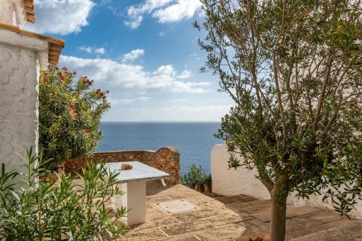 Meerblick-Terrasse mit Zugang zu einer weiteren