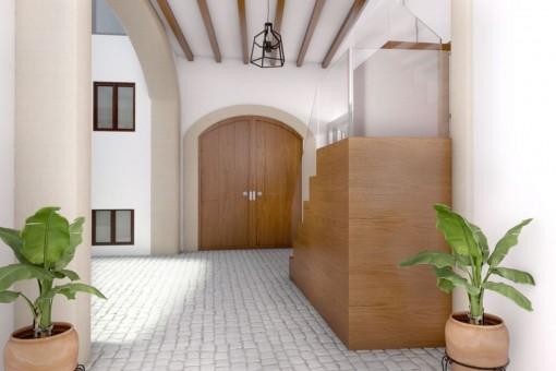 Patio und Eingang