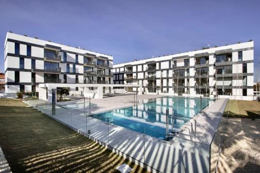 Moderne 4-SZ Neubau Wohnung mit Terrasse in zentraler Lage in Palma