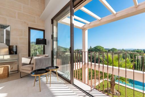 Schöner Panoramablick vom Wohnzimmer aus