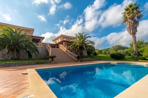 Ruhig gelegene Finca ideal für 2 Familien in absoluter ruhiger Lage bei Santa Margalida