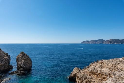 Beeindruckender Blick aus Meer