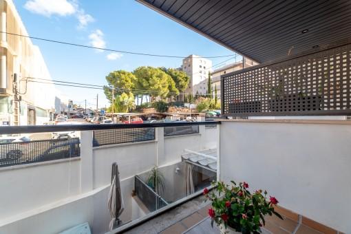 Kleine strandnahe Wohnung mit Balkon und  Tiefgaragenplatz in Sant Augustin