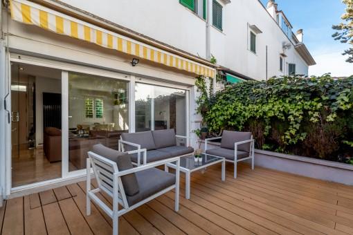 Tolle Doppelhaushälfte mit schönem Garten und Pool in einer sehr ruhigen und gesuchten Gegend in Palma