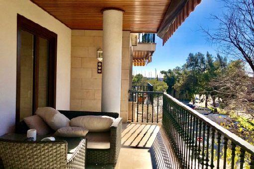 Elegantes, unmöbliertes Apartment mit Zentralheizung, Balkon und fantastischem Ausblick am Paseo Mallorca, Palma - mieten