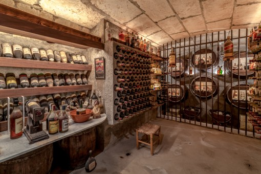 Beeindruckender Weinkeller im Haupthaus