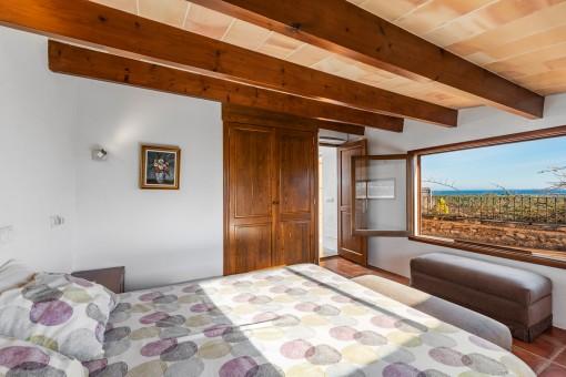 Schlafzimmer mit Panoramablick
