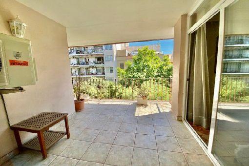 Möbliertes Apartment mit großen Balkon in zentraler und ruhiger Wohnlage in Palmas City