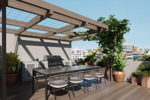 Kernsaniertes 3-SZ Penthouse mit großer Terrasse und super Lage in Palma